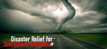 Disaster Relief for Tuscaloosa Alabama